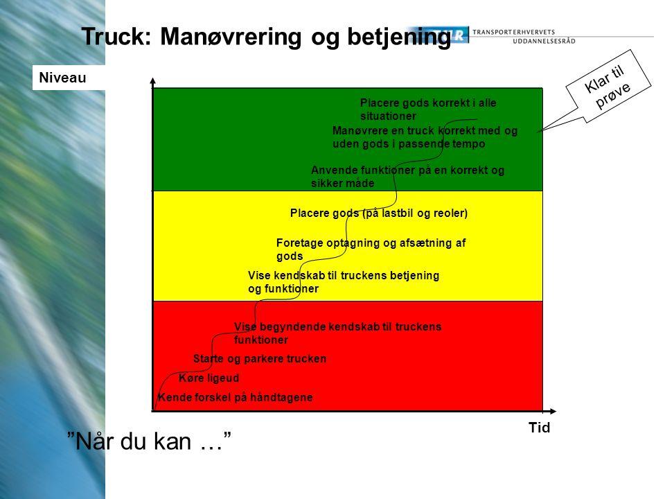 Truck: Manøvrering og betjening