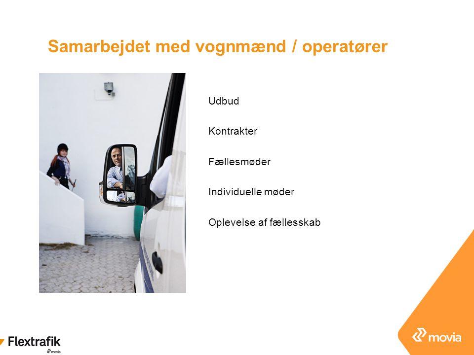 Samarbejdet med vognmænd / operatører