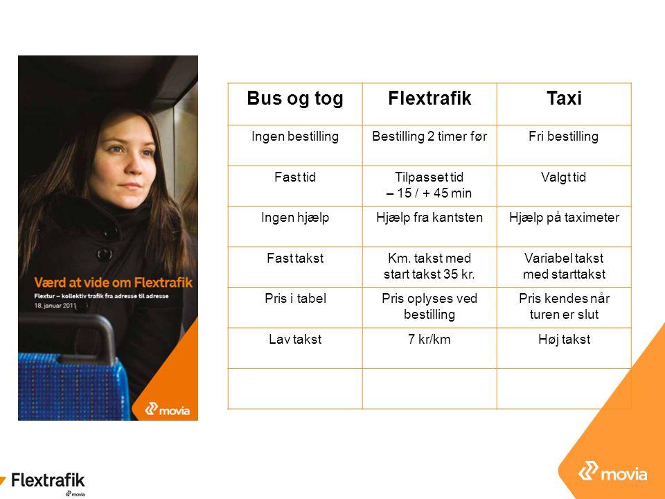 Bus og tog Flextrafik Taxi