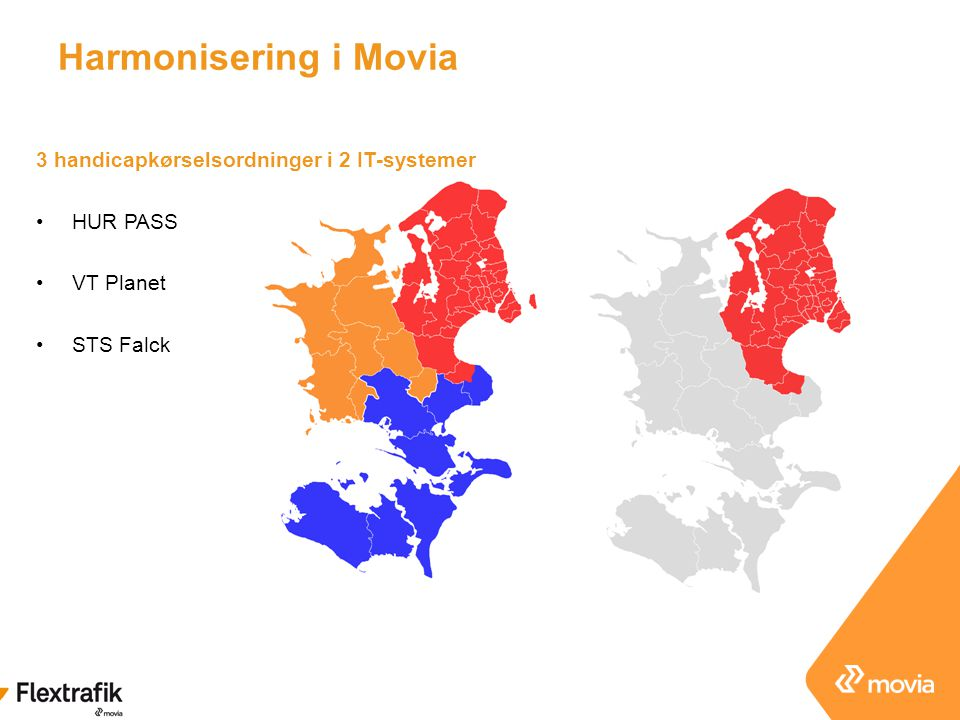 Harmonisering i Movia 3 handicapkørselsordninger i 2 IT-systemer