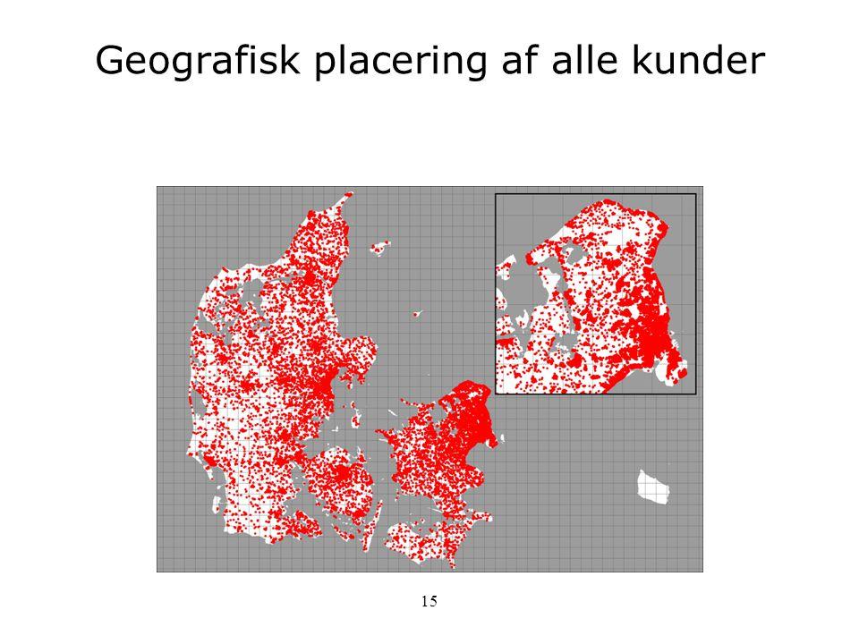 Geografisk placering af alle kunder