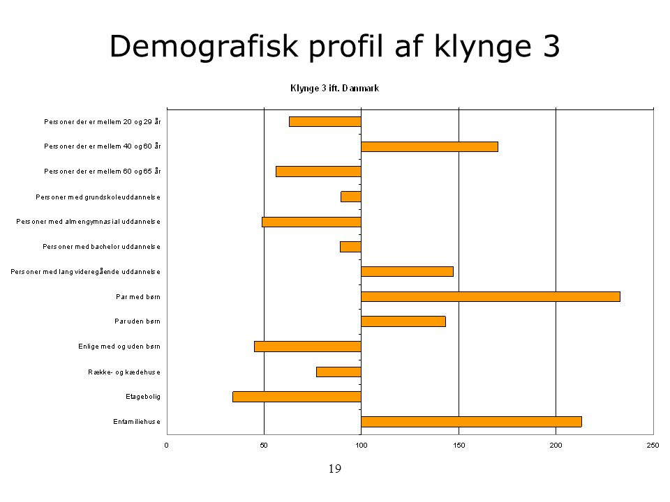 Demografisk profil af klynge 3
