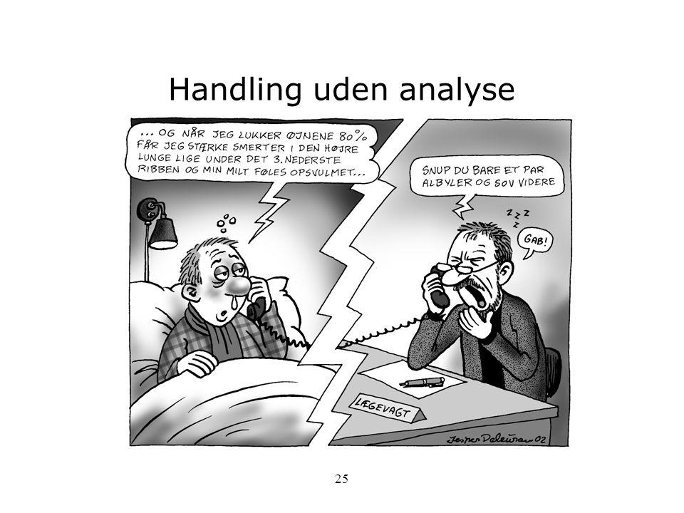Handling uden analyse