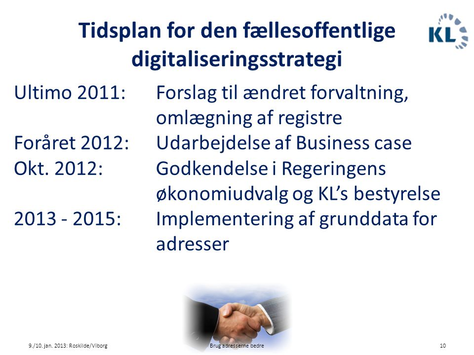 Tidsplan for den fællesoffentlige digitaliseringsstrategi