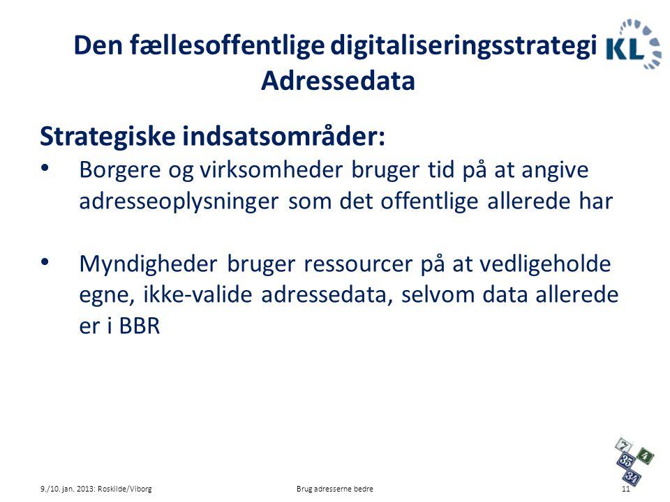 Den fællesoffentlige digitaliseringsstrategi Adressedata