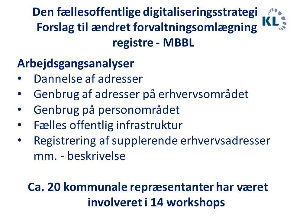 Ca. 20 kommunale repræsentanter har været involveret i 14 workshops
