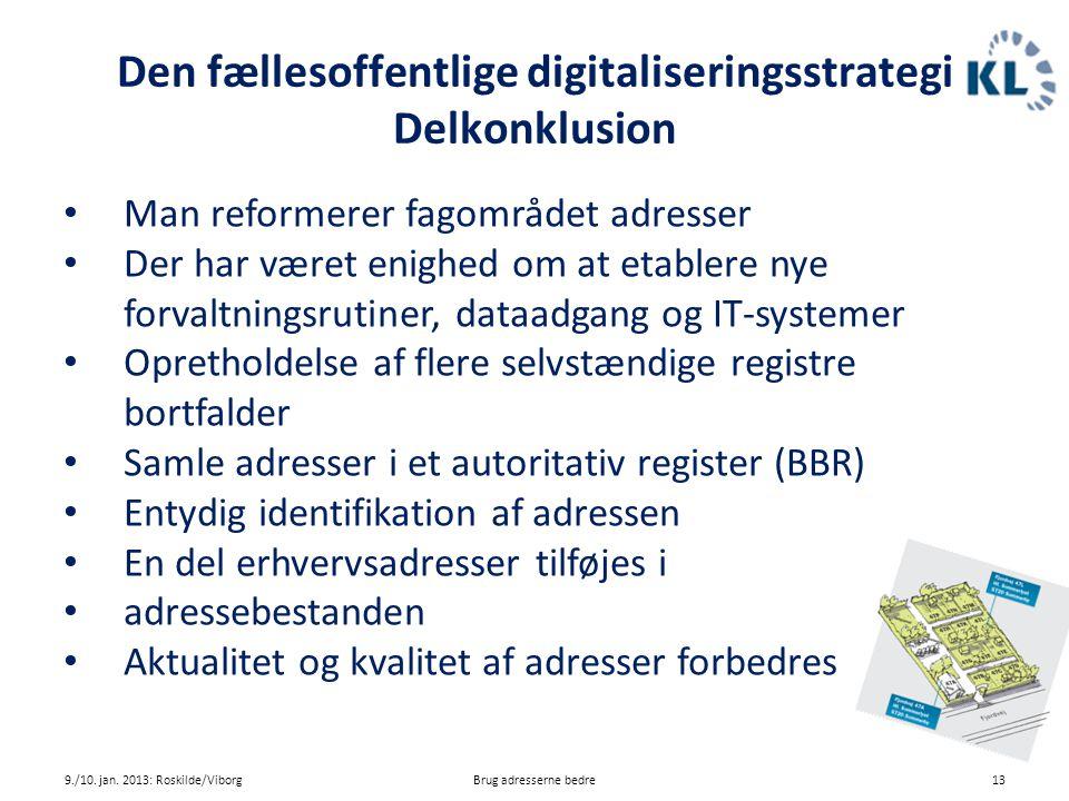 Den fællesoffentlige digitaliseringsstrategi Delkonklusion