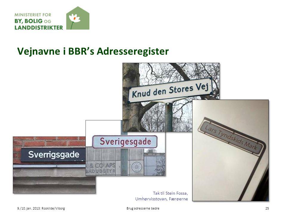 Vejnavne i BBR's Adresseregister