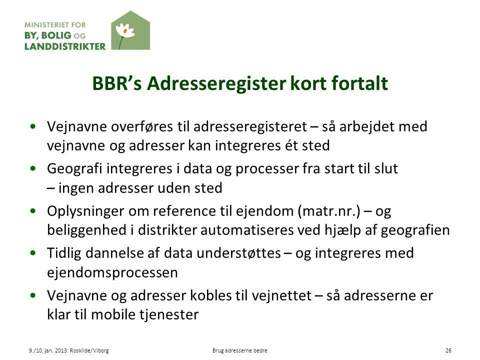 BBR's Adresseregister kort fortalt