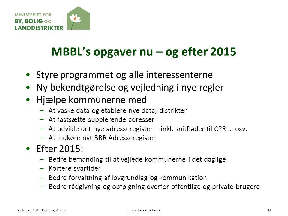MBBL's opgaver nu – og efter 2015