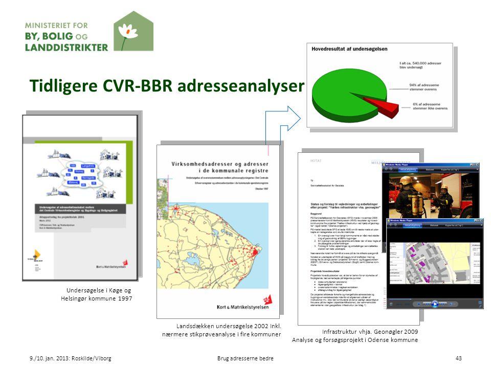 Tidligere CVR-BBR adresseanalyser