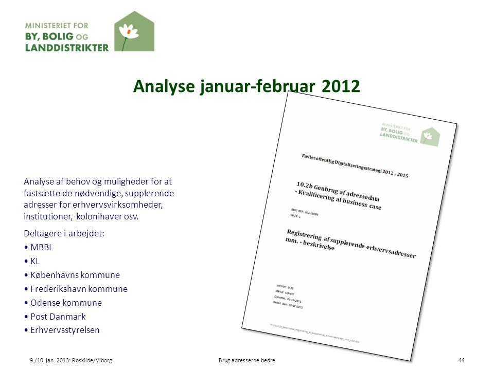 Analyse januar-februar 2012