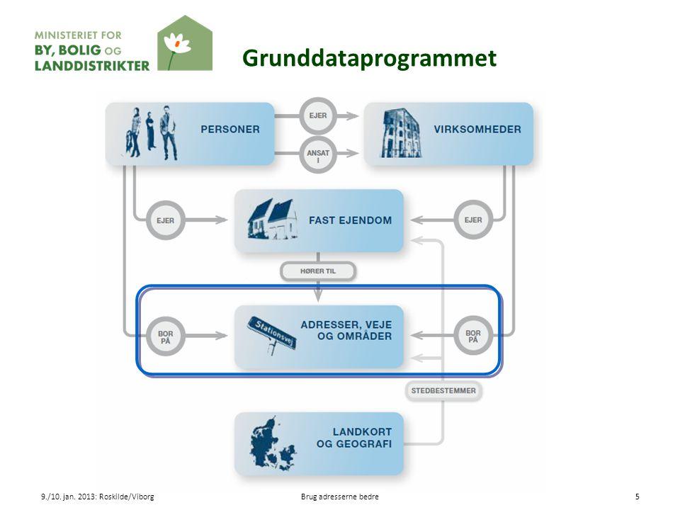 Grunddataprogrammet 9./10. jan. 2013: Roskilde/Viborg