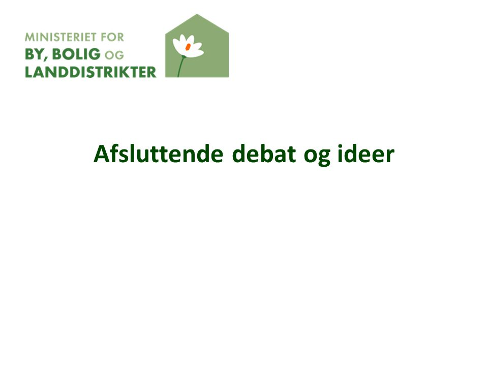 Afsluttende debat og ideer
