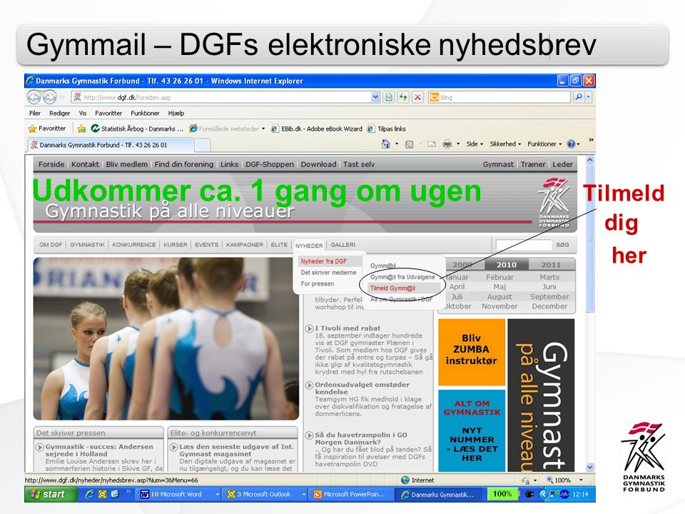 Gymmail – DGFs elektroniske nyhedsbrev