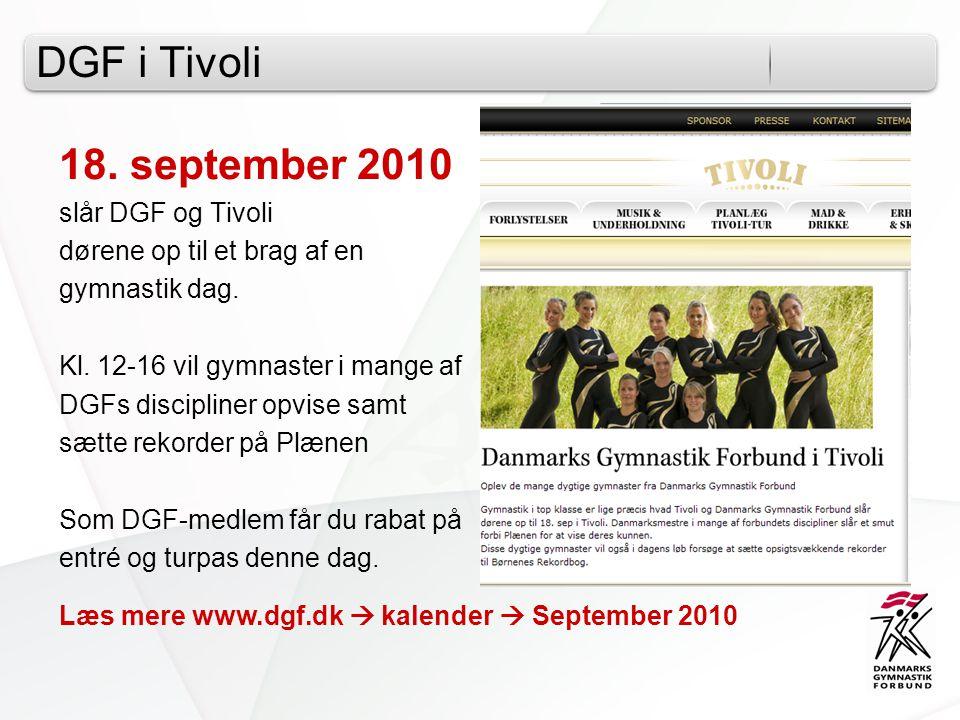 DGF i Tivoli 18. september 2010 slår DGF og Tivoli