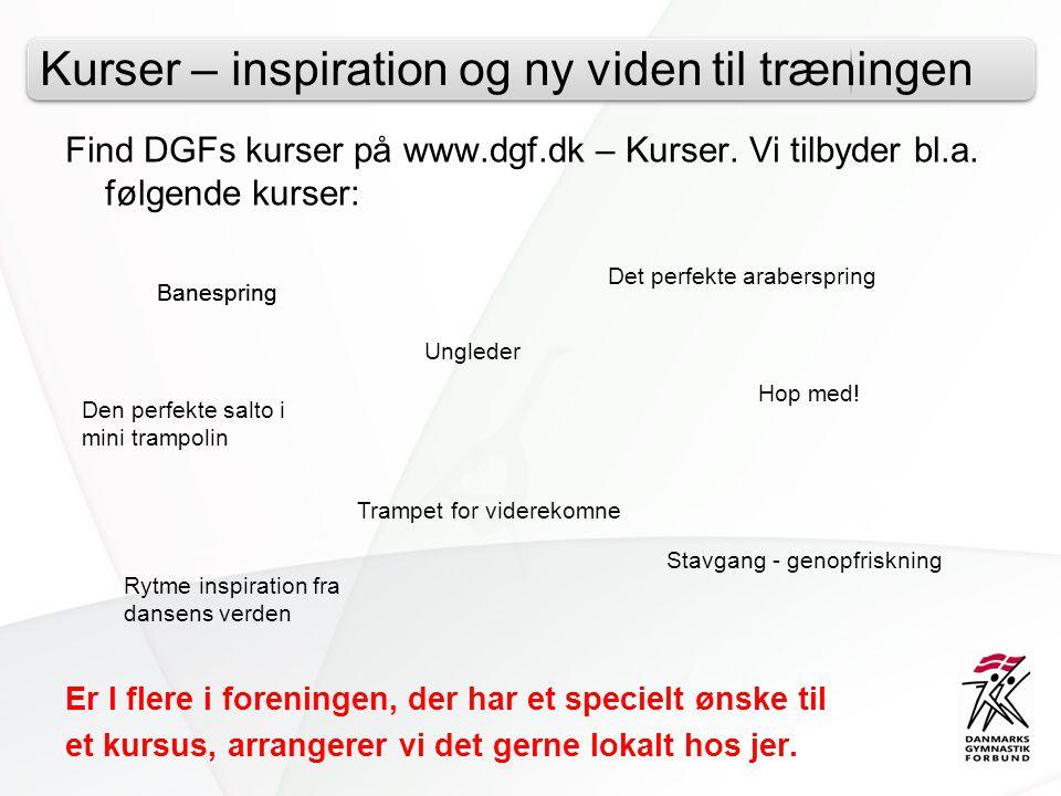 Kurser – inspiration og ny viden til træningen