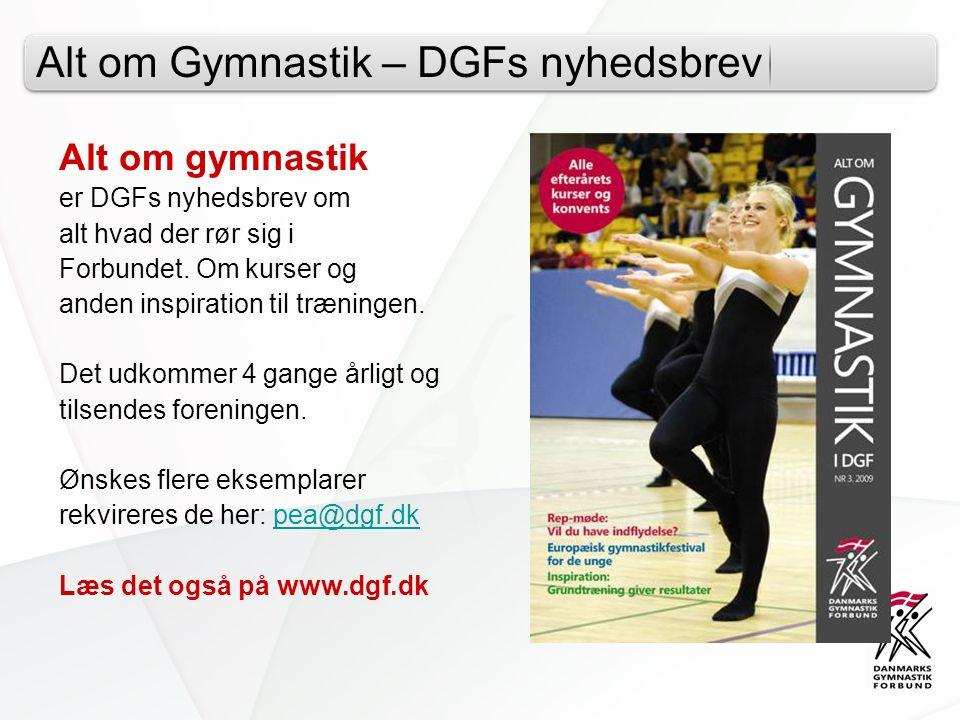 Alt om Gymnastik – DGFs nyhedsbrev