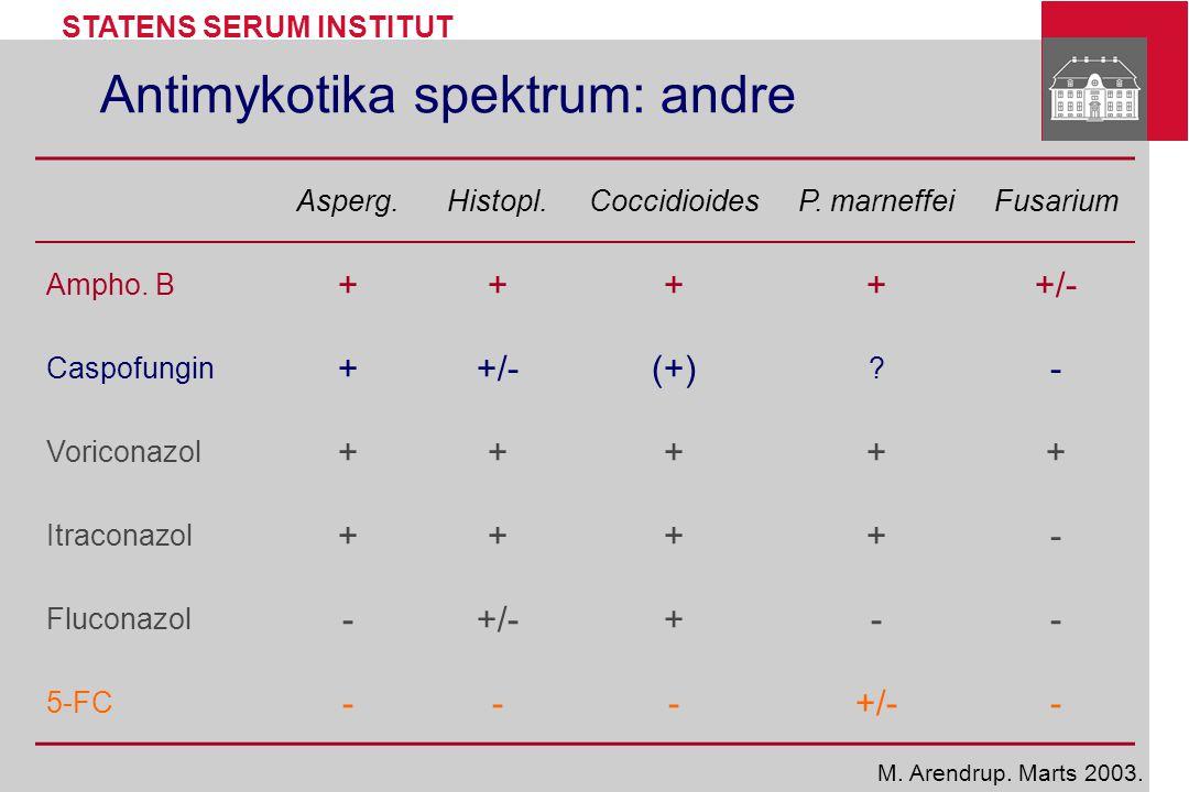 Antimykotika spektrum: andre