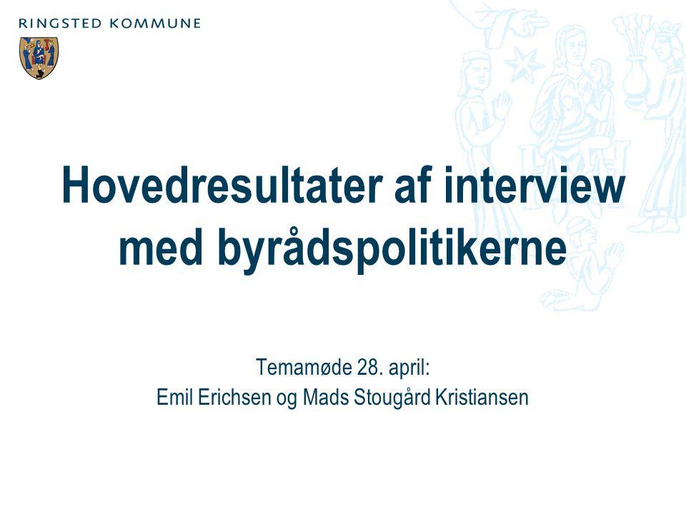 Hovedresultater af interview med byrådspolitikerne