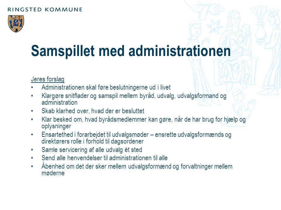 Samspillet med administrationen