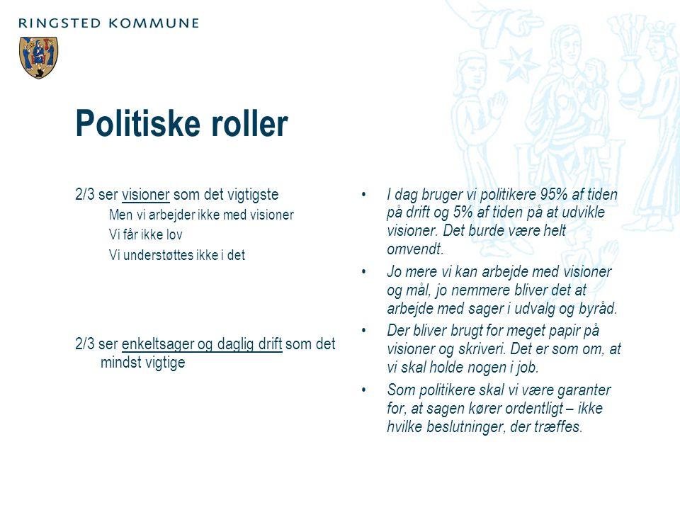 Politiske roller 2/3 ser visioner som det vigtigste