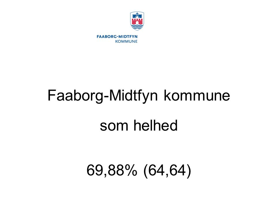 Faaborg-Midtfyn kommune som helhed 69,88% (64,64)
