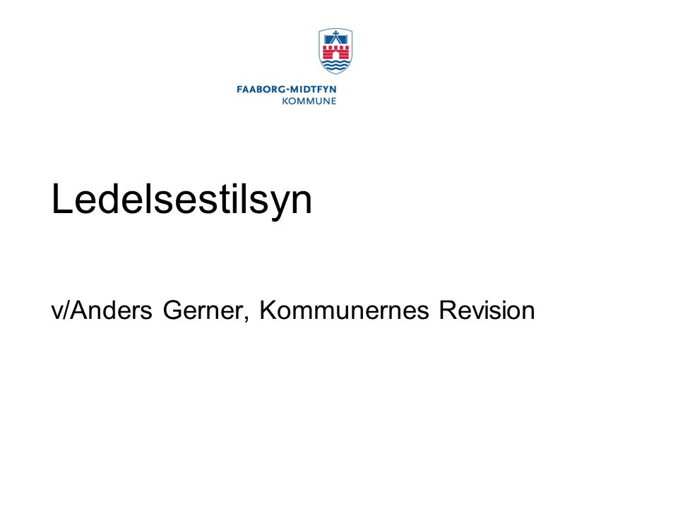 v/Anders Gerner, Kommunernes Revision