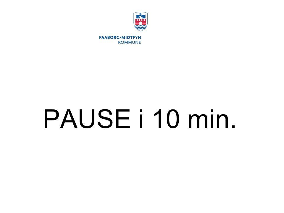 PAUSE i 10 min.