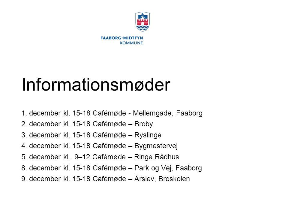 Informationsmøder 1. december kl. 15-18 Cafémøde - Mellemgade, Faaborg