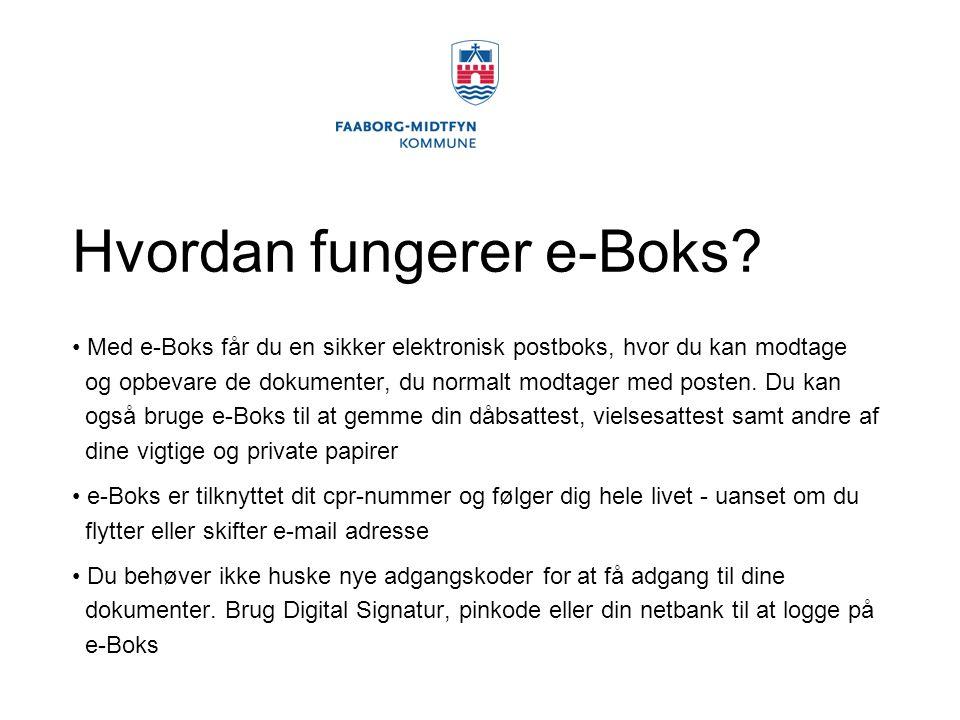 Hvordan fungerer e-Boks