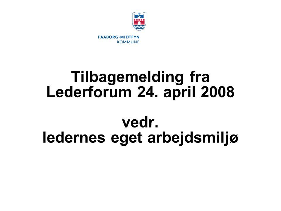 Tilbagemelding fra Lederforum 24. april 2008 vedr