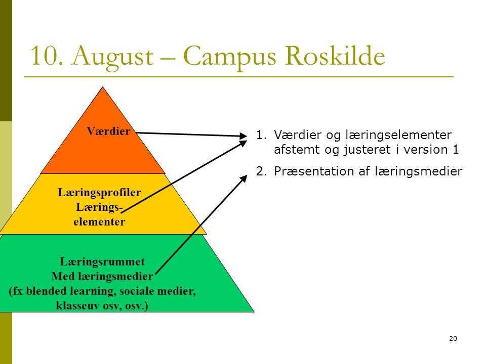 10. August – Campus Roskilde