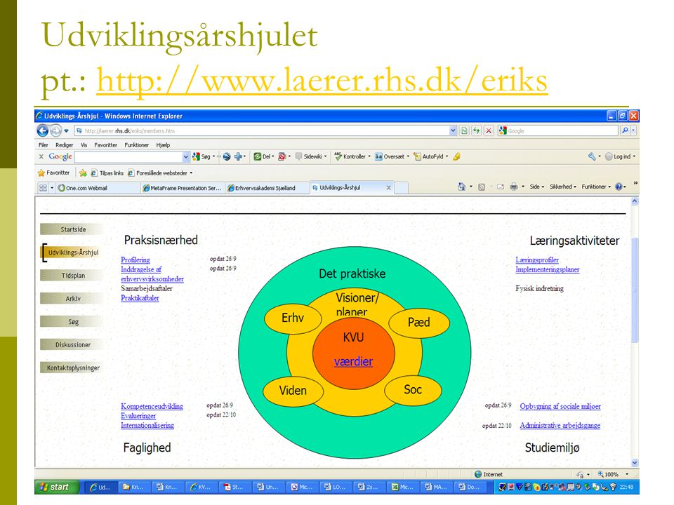 Udviklingsårshjulet pt.: http://www.laerer.rhs.dk/eriks