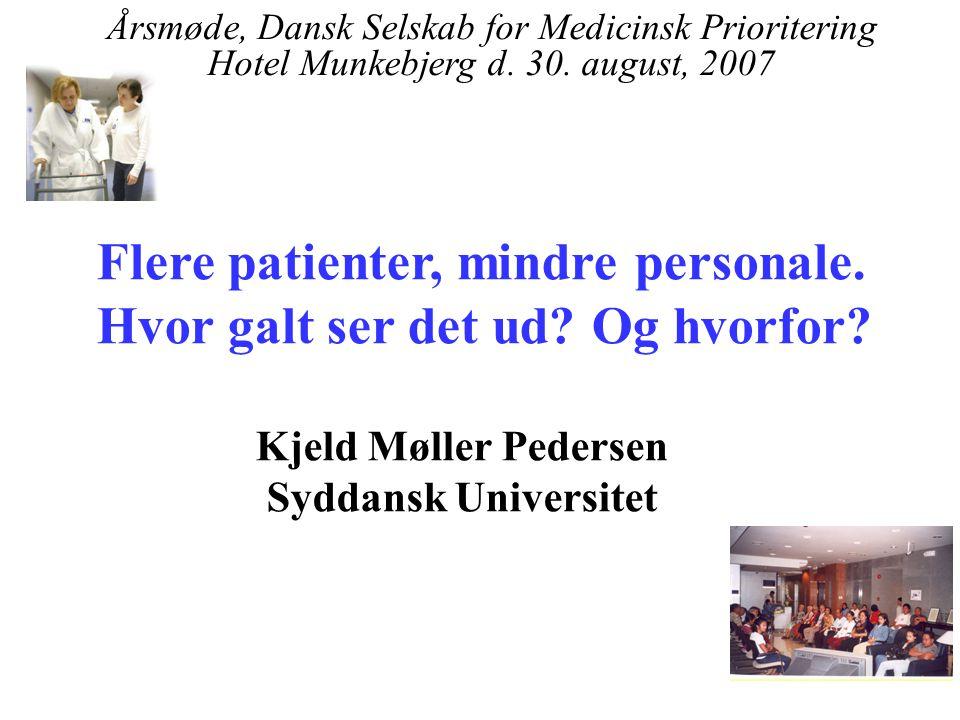 Flere patienter, mindre personale. Hvor galt ser det ud Og hvorfor
