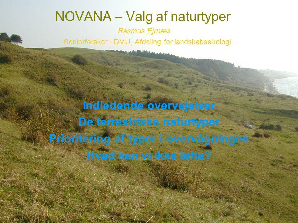 NOVANA – Valg af naturtyper