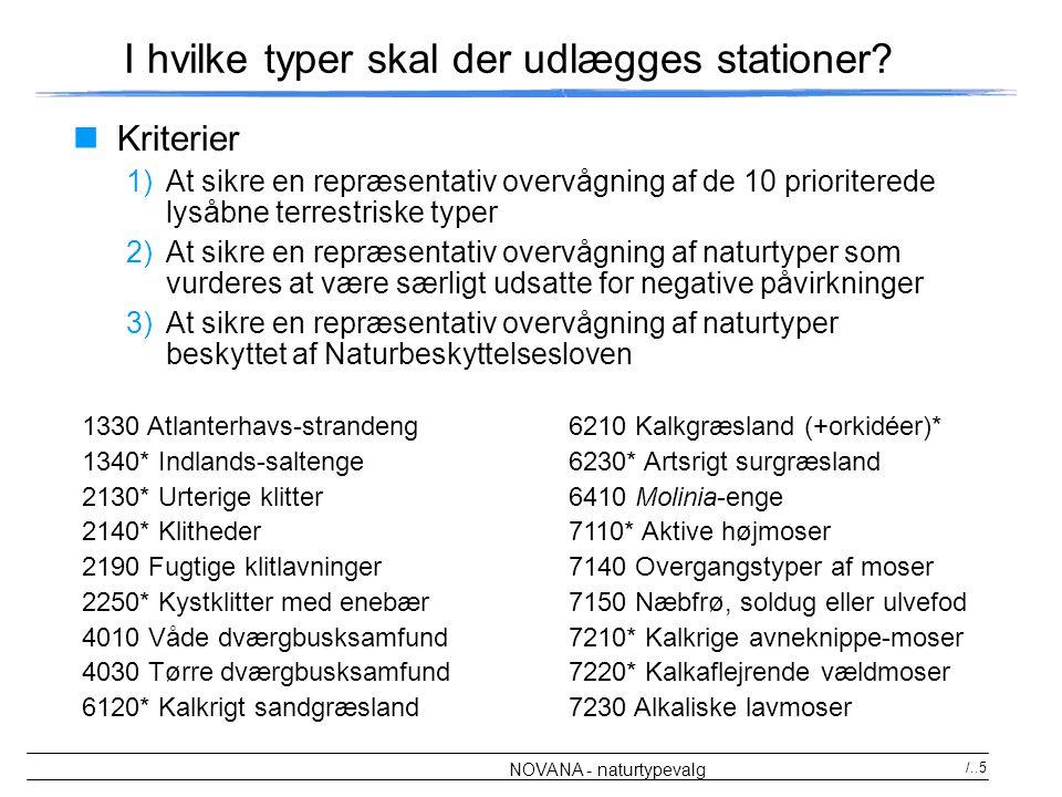I hvilke typer skal der udlægges stationer