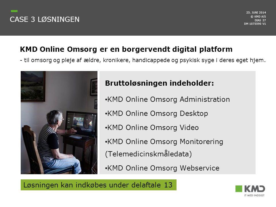 KMD Online Omsorg er en borgervendt digital platform