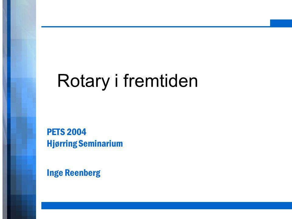 PETS 2004 Hjørring Seminarium Inge Reenberg