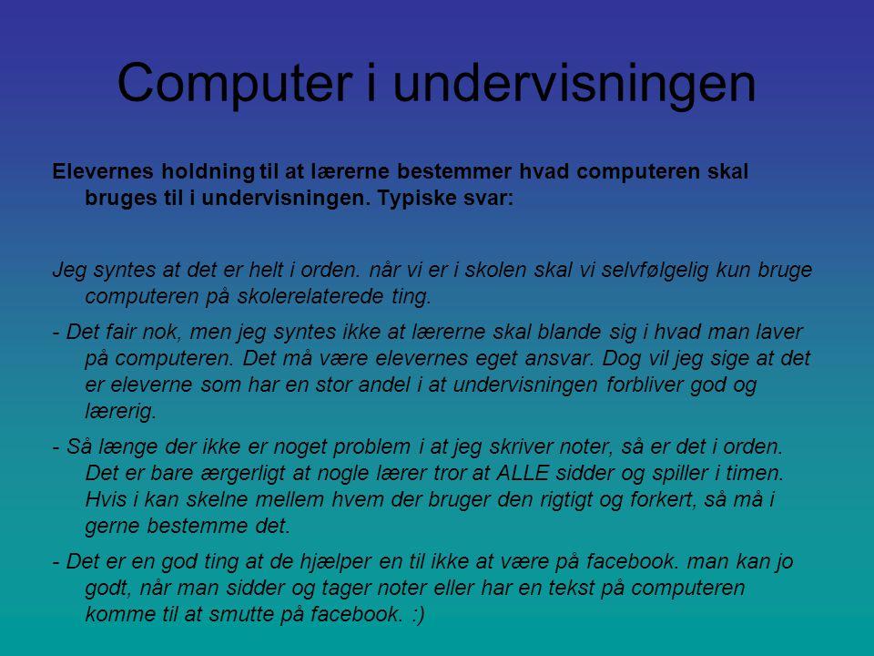 Computer i undervisningen