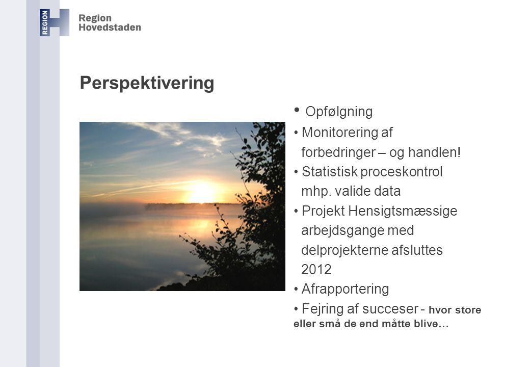 Opfølgning Perspektivering Monitorering af forbedringer – og handlen!