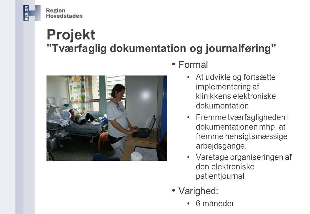 Projekt Tværfaglig dokumentation og journalføring