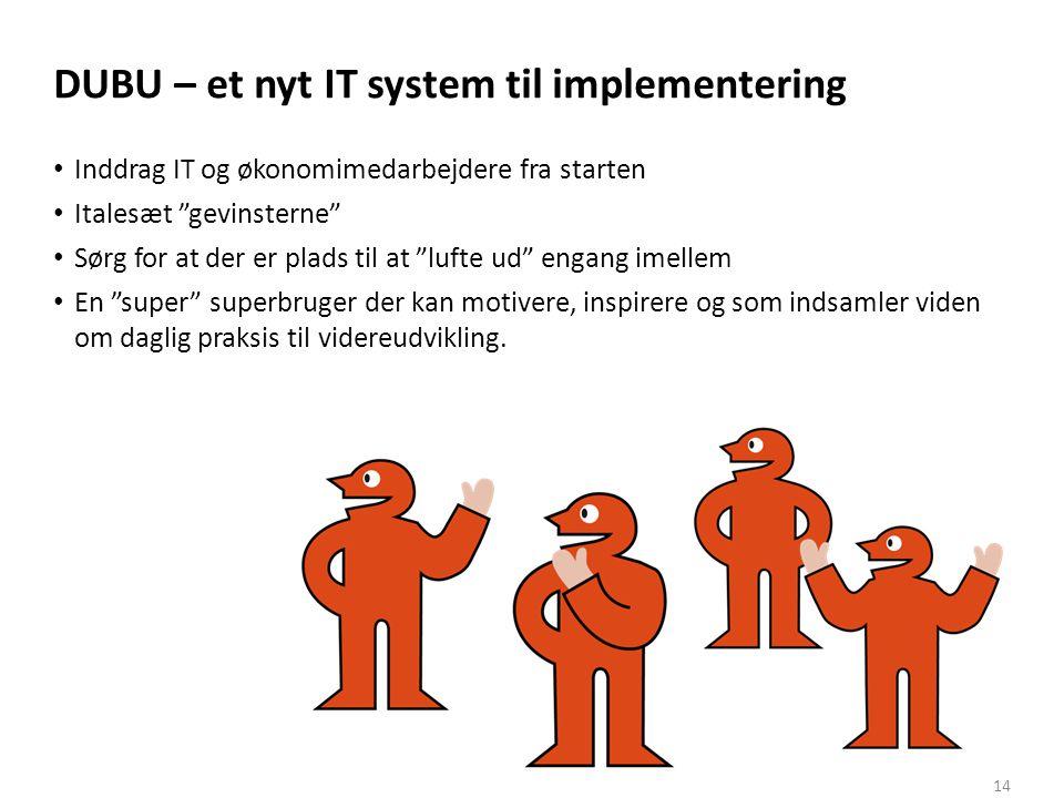 DUBU – et nyt IT system til implementering