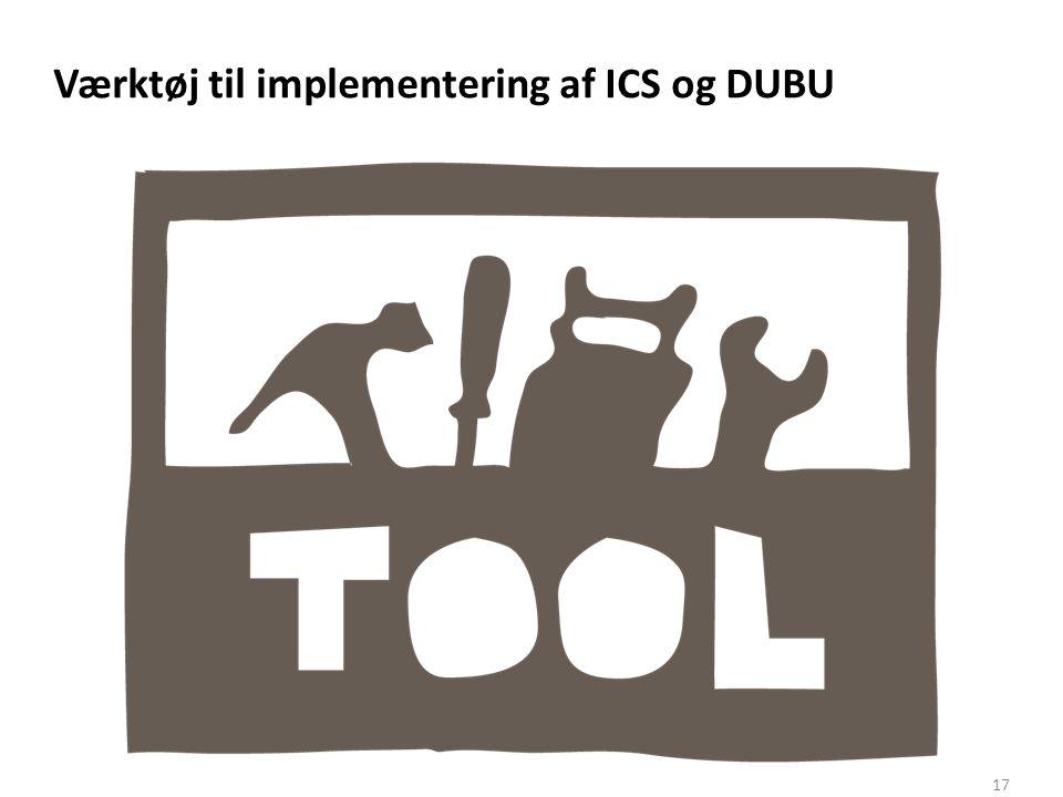 Værktøj til implementering af ICS og DUBU