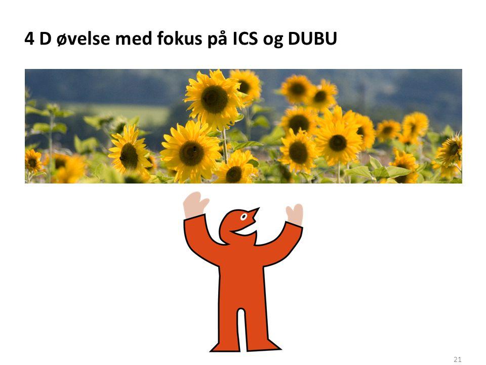 4 D øvelse med fokus på ICS og DUBU
