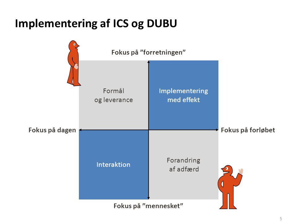 Implementering af ICS og DUBU