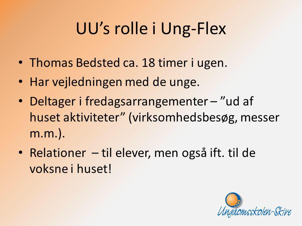 UU's rolle i Ung-Flex Thomas Bedsted ca. 18 timer i ugen.