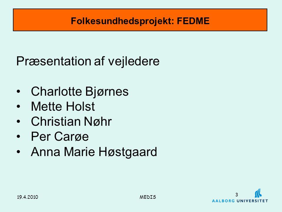Folkesundhedsprojekt: FEDME