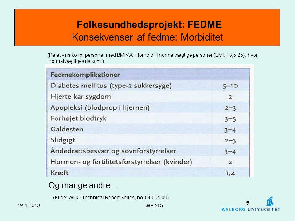 Folkesundhedsprojekt: FEDME Konsekvenser af fedme: Morbiditet