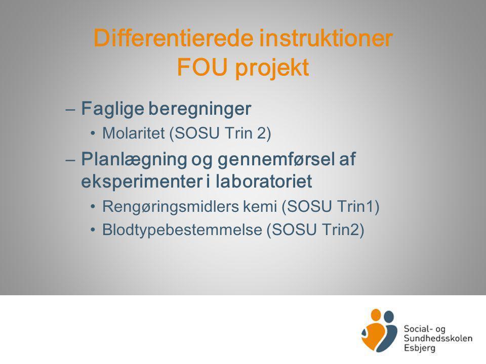 Differentierede instruktioner FOU projekt